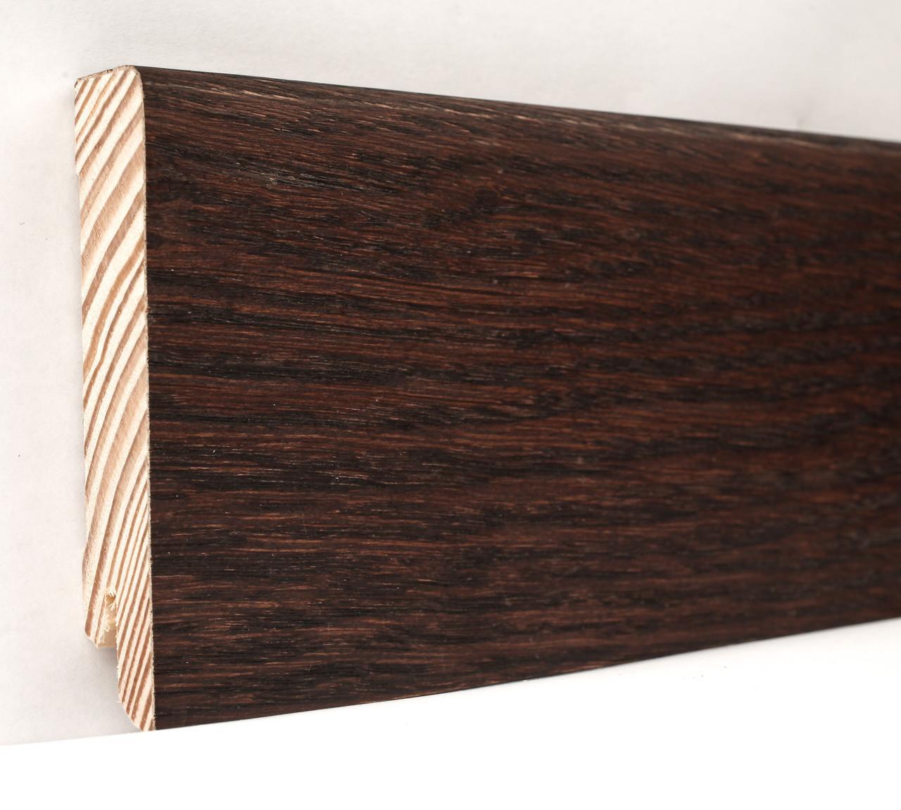 Плинтус деревянный (шпон) Kluchuk Neo Plinth Дуб Коньяк 120х19х2200 мм.