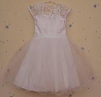 Белое нарядное платье для девочек с пышной юбкой. 5-6 лет Киев.