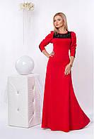 Яркое красное платье в пол