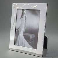 """Стильная рамка для свадебной фотографии """"Два сердца"""" 17*22 см"""