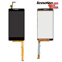 Дисплейный модуль (дисплей + сенсор) для Lenovo A6010, оригинал, черный