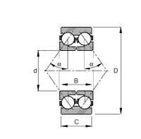 Подшипник MBS DAC4074CW, 40BWD16, MB808442