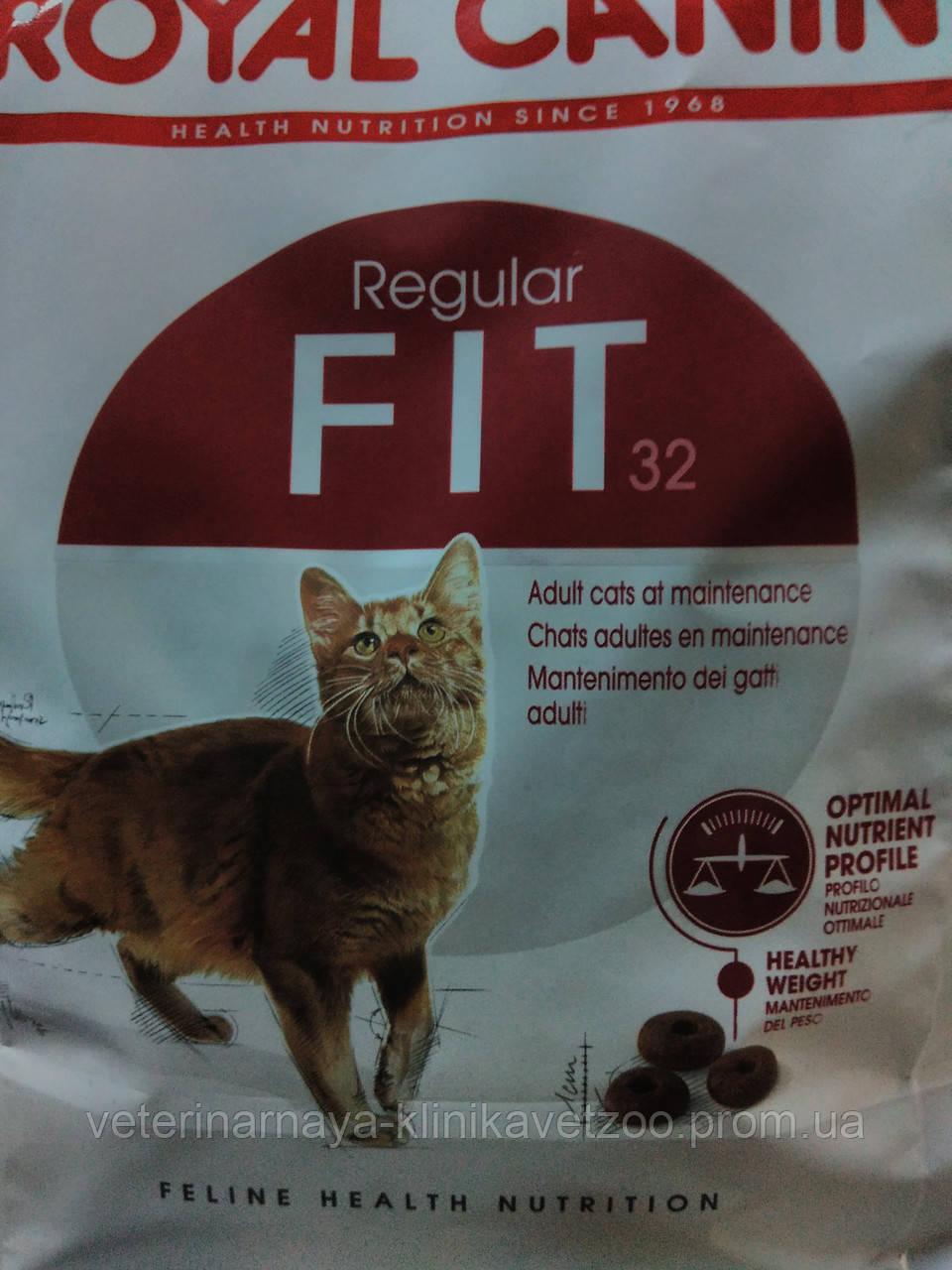 Royal Canin(Fit)полноценный сухой корм для взрослых кошек от 1 до 7лет  400г
