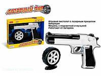 """Пистолет """"Лазерный тир"""" ZYВ-В 1151 (72) на батарейке, в коробке, ПРИЦЕЛ И УПАКОВКА ПОВРЕЖДЕНЫ"""