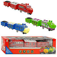 "Поезд 661 В-10 (72/2) ""ЧАГГИНГТОН"" 3 вида, муз., свет, на батарейке, в коробке"