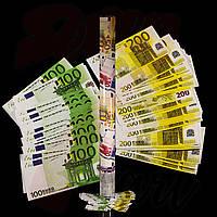 Хлопушка Конфетти Евро, 60 см
