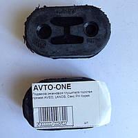 Подвеска глушителя резиновая толстая прямая Авео Ланос Сенс PH Корея 96181437