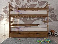 """Двухъярусная кровать """"Ясная"""" деревянная"""
