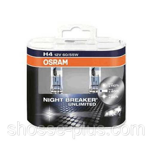 Автолампа галоген H4 12V 60/55W OSRAM NIGHT BREAKER UNLIMITED UNLIMITED