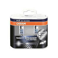Автолампа галоген H4 12V 60/55W OSRAM NIGHT BREAKER UNLIMITED UNLIMITED