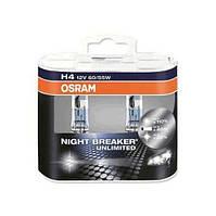 Автолампа галоген H4 12V 60/55W OSRAM NIGHT BREAKER UNLIMITED UNLIMITED, фото 1
