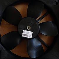 Вентилятор охлаждения Авео в сборе с дифузором ( с кондиционером ) HALLA Южная Корея 96536666, 96536581