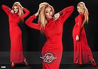 Красное платье в пол открытая спина