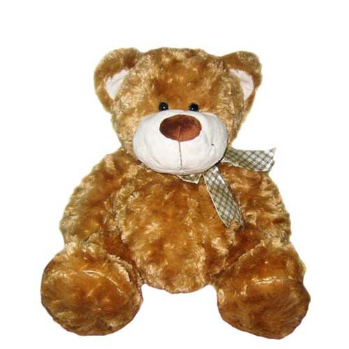 Мягкая игрушка «Grand» (4001GM) медведь коричневый с бантом, 40 см