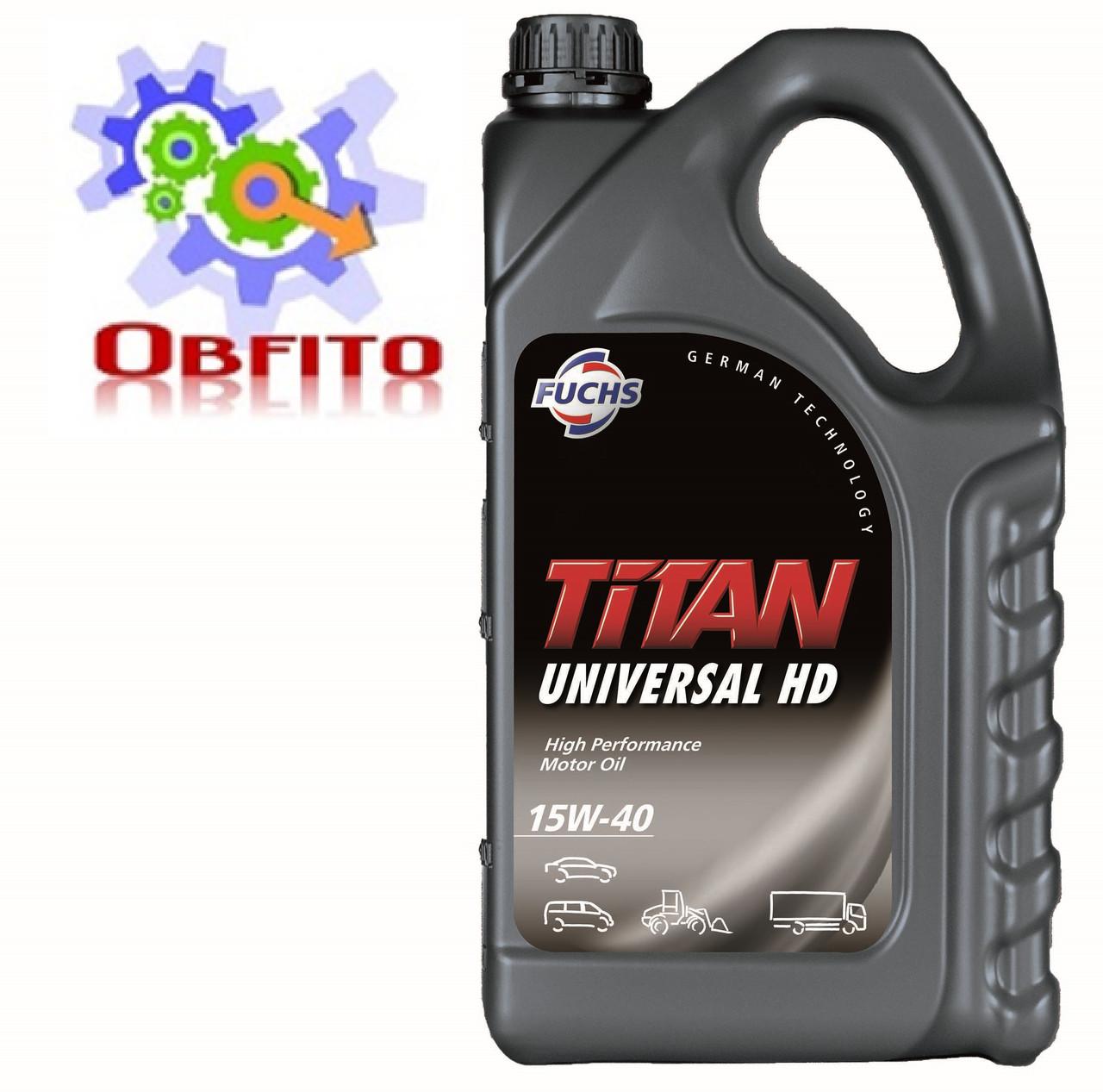 """Масло моторное минеральное """"TITAN UNIVERSAL HD SAE 15W-40"""", 5л"""