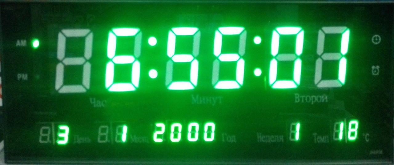 Часы  cветодиодные 2316-5 green (зеленые цифры)   .dr