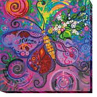 Набор для вышивки бисером на холсте Полет бабочки AB-504