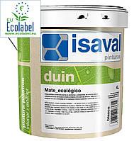 Экологически чистая краска ISAVAL Дуин-Экологико 4 л белый -  для отделки стен и потолков