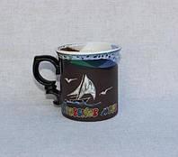 """Чашка маленькая обрезная """"Азовское море"""" (200мл) 37ЧОАММ"""
