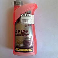 Антифриз красный 1 литр MANNOL AF12+