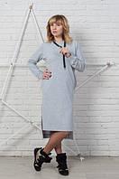 Качественное женское платье с капюшоном