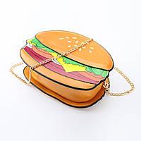 Молодежная сумка Гамбургер Hamburger  на цепочке