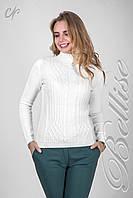 Стильный женский теплый свитер из пряжи
