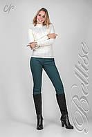 Молодежный женский теплый свитер из пряжи