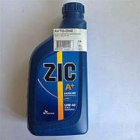 Масло моторное полусинтетическое 10W40 1 литр ZIC А+