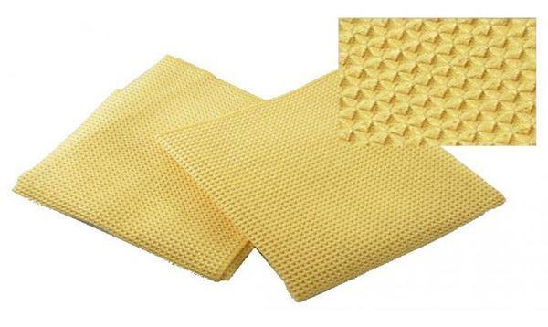 Полотенце вафельное синтетическое желтое