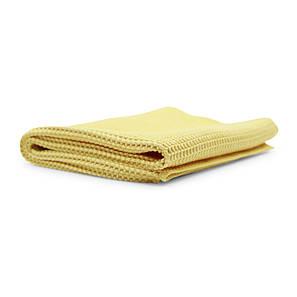 Полотенце вафельное синтетическое желтое, фото 2