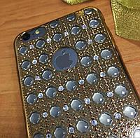Объемный силиконовый чехол 3D iPhone 6SPlus/6Plus, Gold