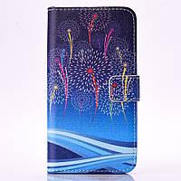 Чехол книжка TPU Wallet Printing для Samsung A5 2016 A510 Fireworks