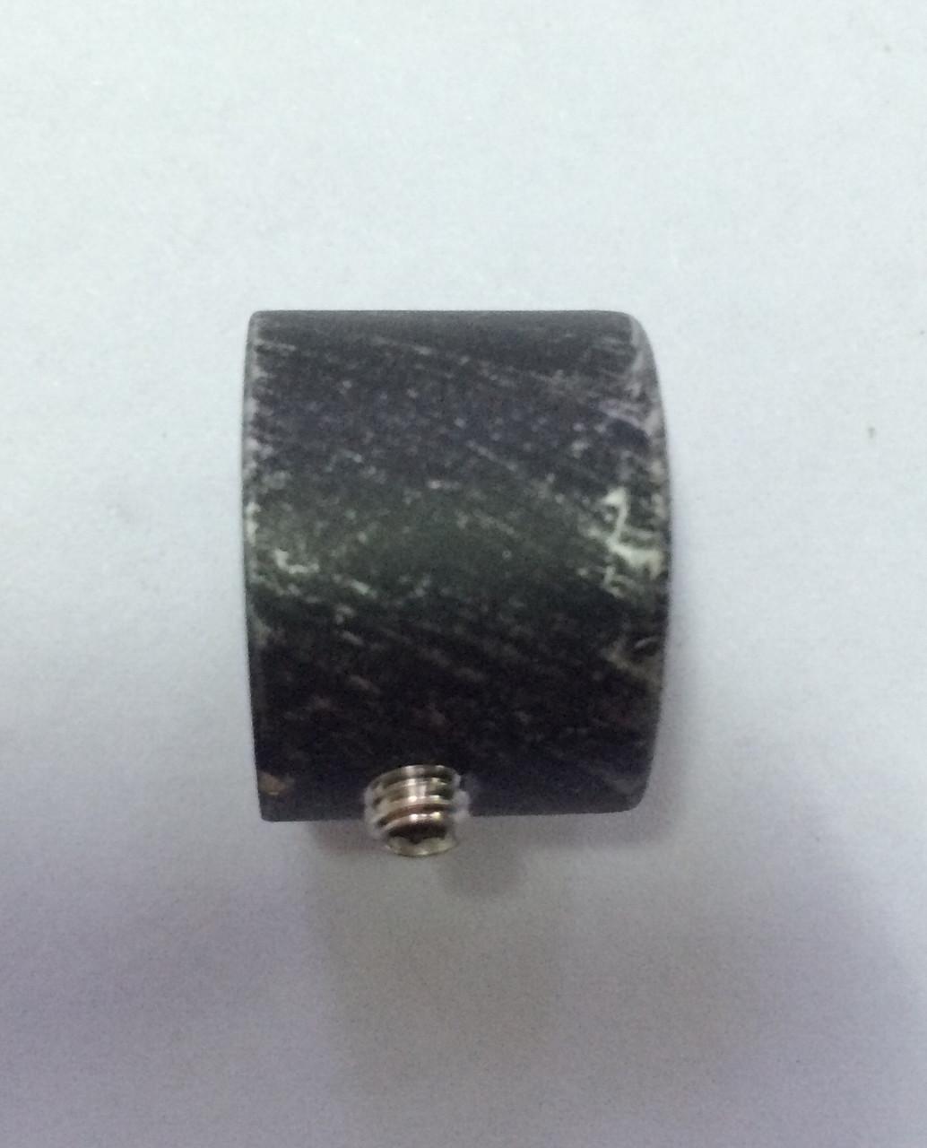 Заглушка декоративная д.16мм чёрное серебро