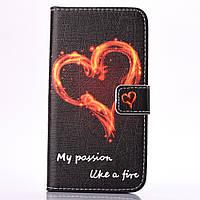 Чехол книжка TPU Wallet Printing для Samsung A5 2016 A510 My Passion Like Fire