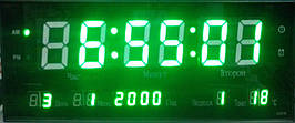 Часы большие светодиодные  3313-5green   .dr