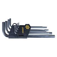Ключи шестигранные 9шт 1,5-10мм CrV (средние) sigma 4022021