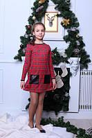 Модное детское платье в клеточку