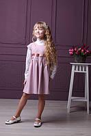 Стильное трикотажное платье-сарафан