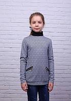 Трикотажная детская кофточка с воротничком