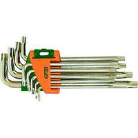 Ключи torx 9шт T10-T50мм CrV (короткие с отвер) sigma   4022275