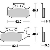 Тормозные колодки Breaking 862SM1
