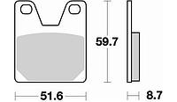 Тормозные колодки Braking 826SM1