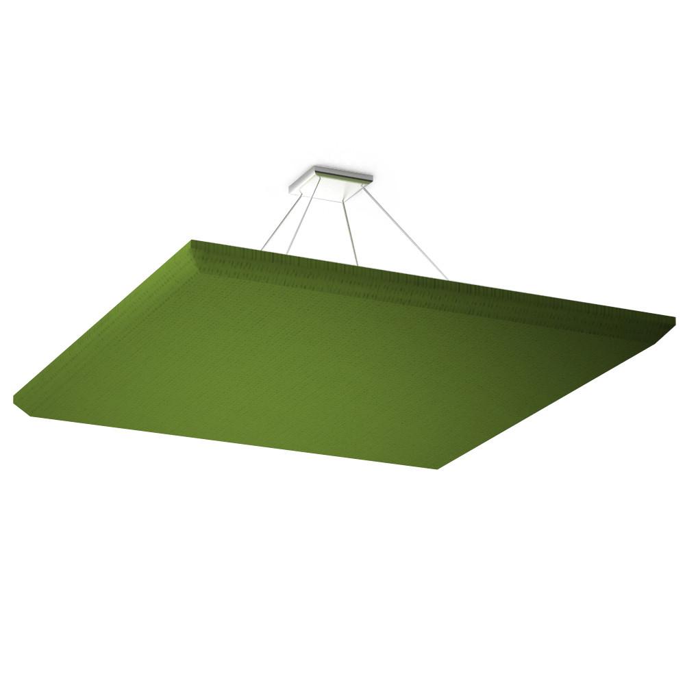 Акустическая подвесная звукопоглощающая панель Ecosound Quadro Green 55 100х100 см Зелёный