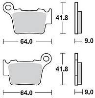 Тормозные колодки Braking 891CM44