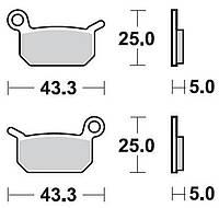 Тормозные колодки Braking 897CM44