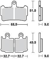 Тормозные колодки Braking 950CM55