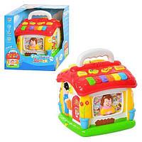 Развивающая игрушка домик 9149: звук, свет, обучение счету, сказки, песни, 3хАА, коробка 21х22х19 см