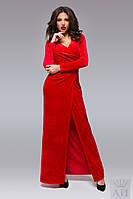 Элегантное вечернее платье приталенного силуэта из бархата