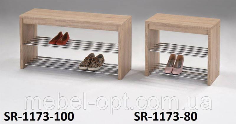 Обувная полка SR-1173-80, банкетка обувница, фото 2